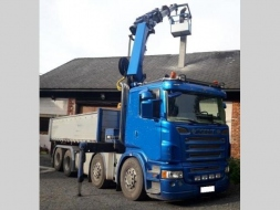 Scania Ostatní 8x4 bordmatik +23m Hiab